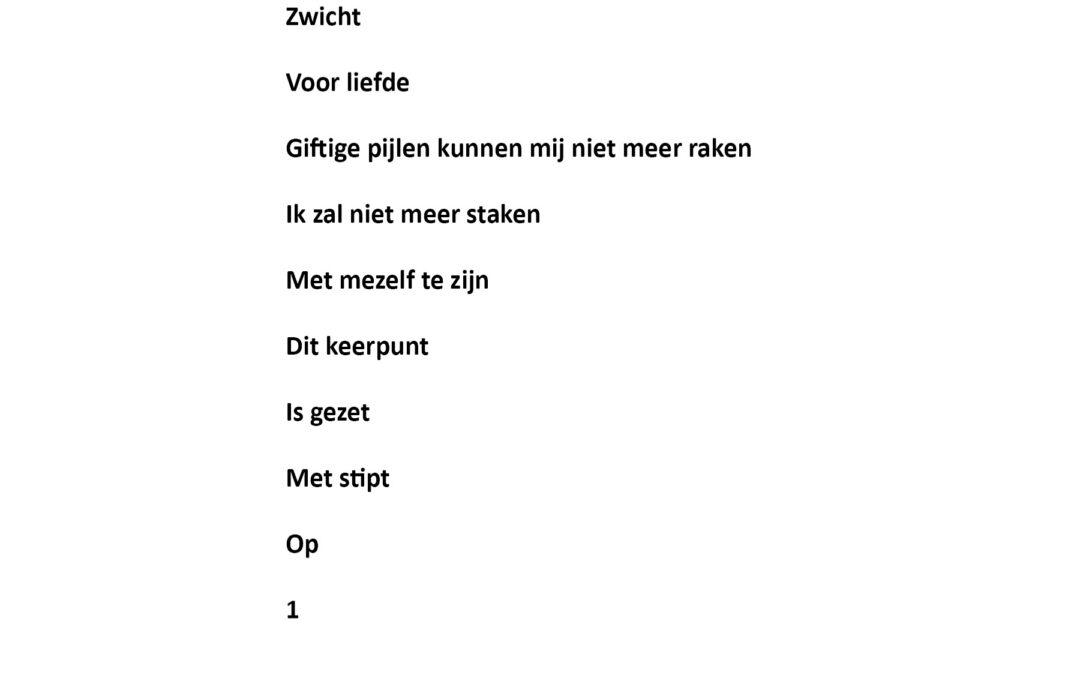 Gedicht van de maand